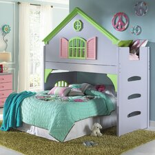 Donco Kids Twin Doll House Loft Bed
