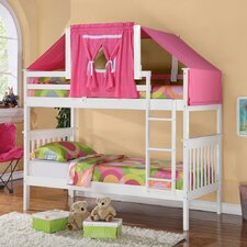 Donco Kids Twin Mission Bunk Bed with Tent Kit