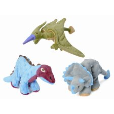 <strong>Go Dog</strong> Mini Dinos Spiked Plated Stegosaurus Dog Toy with Chew Guard