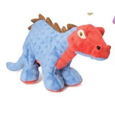 <strong>Go Dog</strong> Dinos Spiked Plated Stegosaurus Dog Toy with Chew Guard