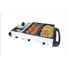Multicooker Buffet Server and Grill in Stainless Steel
