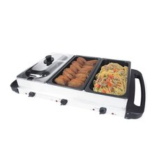 <strong>E-Ware</strong> Multicooker Buffet Server and Grill in Stainless Steel