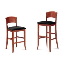 "Giusy 24"" Bar Stool with Cushion"