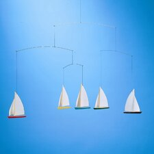<strong>Flensted Mobiles</strong> Dinghy Regatta Mobile with Five Ships