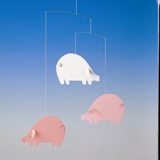 Piggy Mobile in Pink / Light Blue