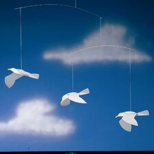 <strong>Flensted Mobiles</strong> Soaring Seagulls Mobile