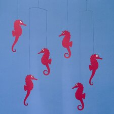 Sea Horse Mobile in Red