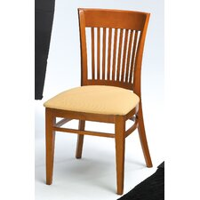 Melissa Slat Back Wood Dining Chair (Set of 2)