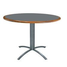 "<strong>Grand Rapids Chair</strong> Ellipse 36"" Custom Round Wood Edge Laminate Top Table"