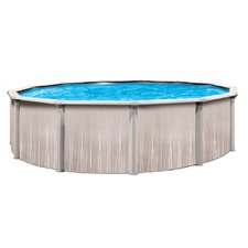 "Aqua Mate by Trevi Round 52"" Deep Deluxe Above Ground Pool"