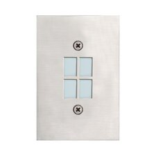 In Wall Four Light Recessed in Satin Nickel