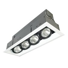 Four Light Multiple Strip Recessed Trim in White