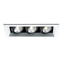 Three Light Metal Recessed Trim in White
