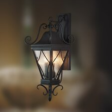 Mavis Rope Trim 3 Light Wall Sconce