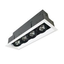 Four Light MR16 Multiple Trim with Transformer in Black