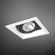 One Light Square PAR20 Multi Recessed Trim in Black