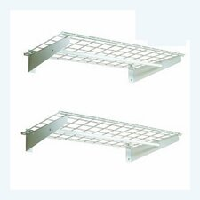 Wall Shelf with Hanging Rod in White (Set of 2)