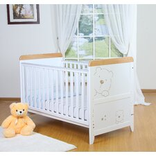 Three Bears Dropside Cot in White