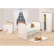 Barcelona 3 Piece Nursery Set in White Beech