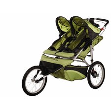 Arrow Fixed Wheel Double Jogging Stroller