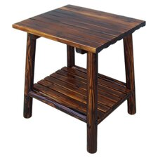 Accent Log Side Table