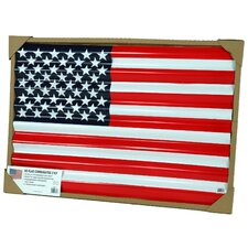 Corrugated US Flag (Set of 6)