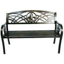 Metal Fleur De Lis Bench