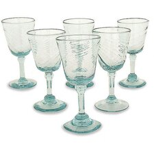 <strong>Novica</strong> Contoured Wine Glasses (Set of 6)