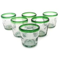 Javier and Efren Artisan Freeze Hand Blown Glass Recycled Glass (Set of 6)