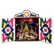 'Celebrating the Birth' Retablo Figurine
