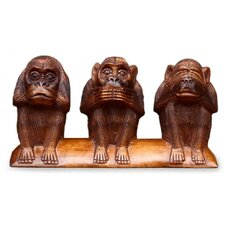3 Wise Monkeys Figurine