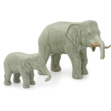 2 Piece Elephant Dad with Junior Figurine Set