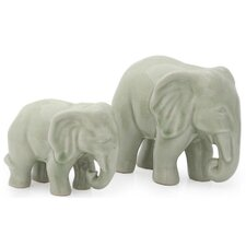 2 Piece Lovely Family Figurine Set