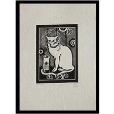 Tequila Lotto the Cat Marina Pallares Graphic Art