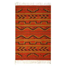 <strong>Novica</strong> Fire of Dawn Zapotec Rug