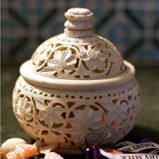 <strong>Novica</strong> 'Ivy and Lace' Decorative Jar