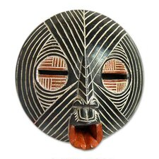 <strong>Novica</strong> 'Gentle Zebra' Ghanaian Mask Wall Décor