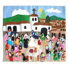 Andean Wedding Applique Wall Hanging