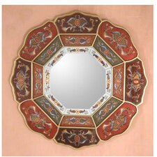 <strong>Novica</strong> Colorful Octagon Flower Mirror