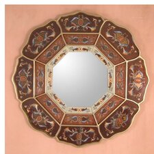 <strong>Novica</strong> Earth Octagon Flower Mirror