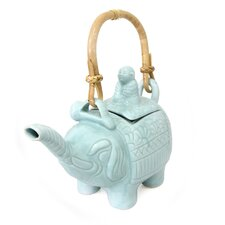 Buddha and The Elephant Putu Oka Mahendra Artisan Ceramic Teapot