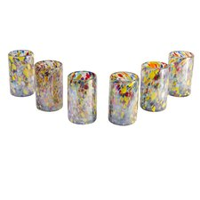 <strong>Novica</strong> Javier and Efren Artisan Teerasak Chaiwong Artisan Blown Carnival Glass Tumbler (Set of 6)