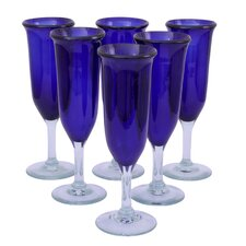 Javier and Efren Champagne Flute (Set of 6)