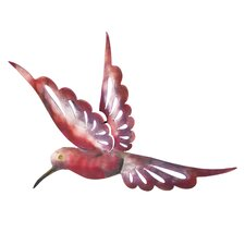 J Blas Artisan Medium Rosy Humming Bird Wall Décor