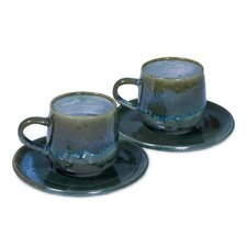 Pro Rehabilitation Group Artisan Ceramic Cup And Saucer (Set of 2)