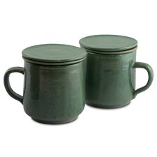 Pro Rehabilitation Group Artisan Tea Time Ceramic Tea Mug (Set of 2)