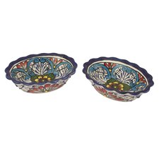 Pedro Alba Talavera Daisy Stars Bowl (Set of 2)