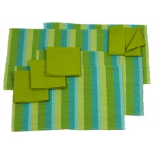 Yama Aj Chixot Artisan Group Casaca Morn Cotton Placemat And Napkins (Set of 8)