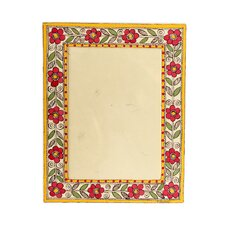 <strong>Novica</strong> The Vidushini Artisan (5x7) Flowers Of India Madhubani Photo Frame