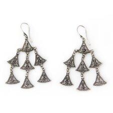 The Wayan Asmana Artisan Sterling Silver Java Belle Chandelier Earrings